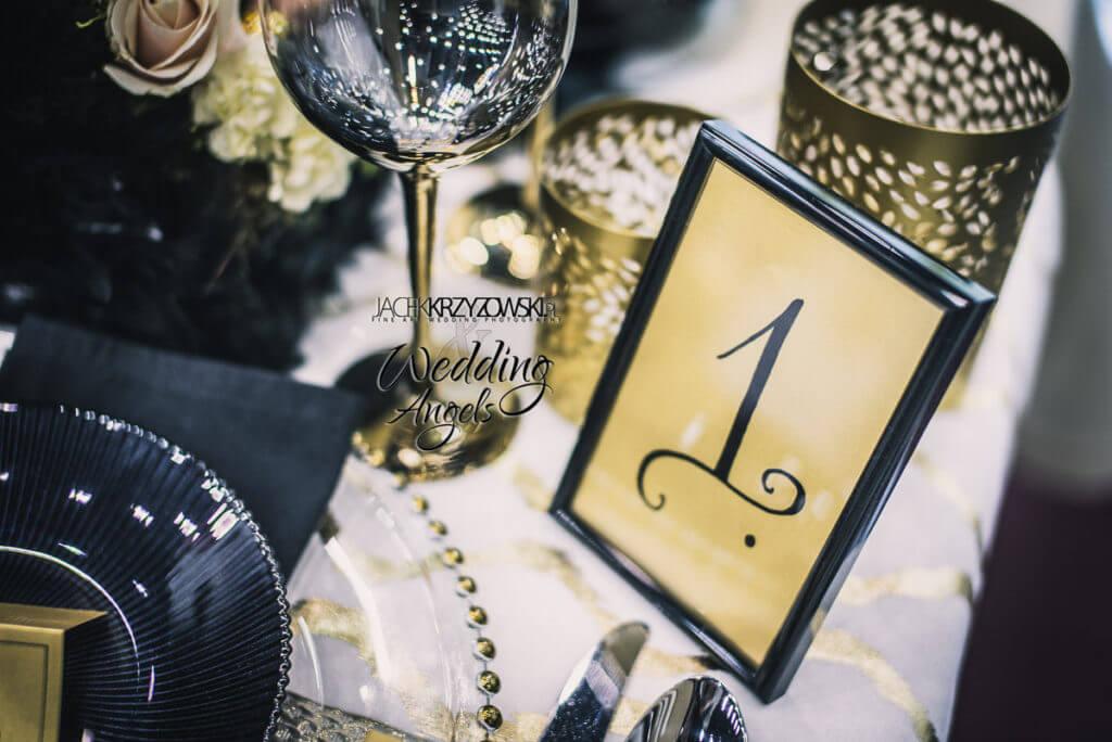 dekoracje w stylu glamour wykonane przez Wedding Angels