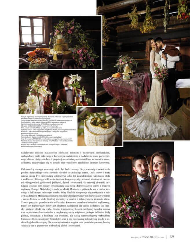 sesja stylizowana Wedding angels wmagazynie PANNA MŁODA
