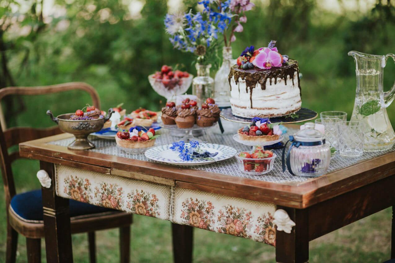 rustykalny słodki stół 1