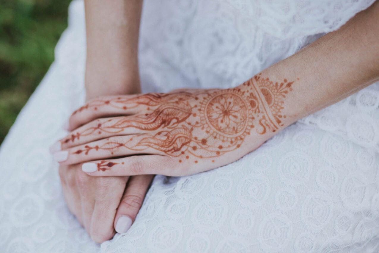 tatuaż panny młodej na wesele