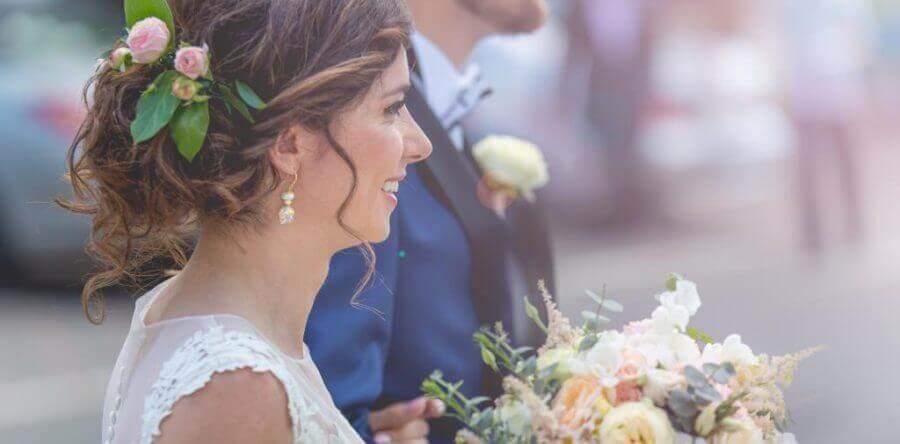 Romantyczny ślub glamour