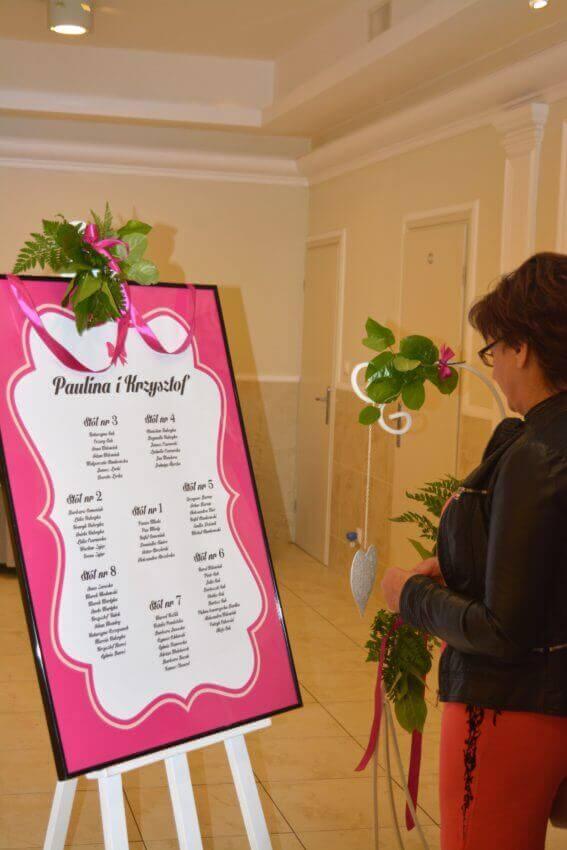 plan sali weselnej