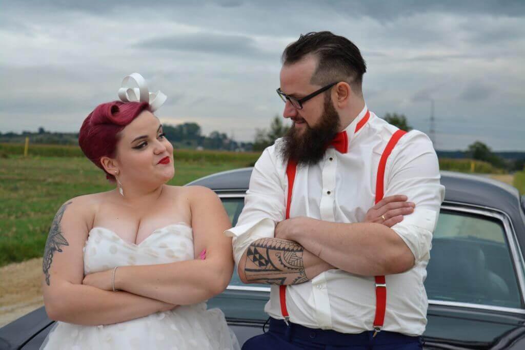 ślub pin-up girl i brodacza