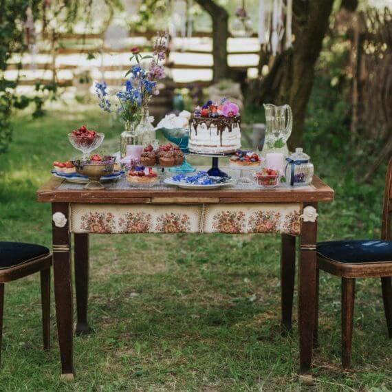 słodki stół boho
