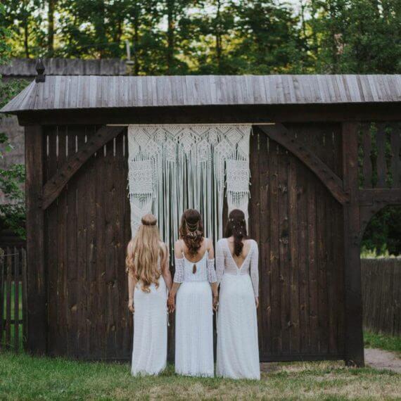 makrama na ślubie
