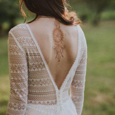 suknia boho zodkrytymi plecami