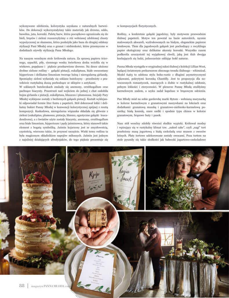 rutykalne dekoracje ślubne
