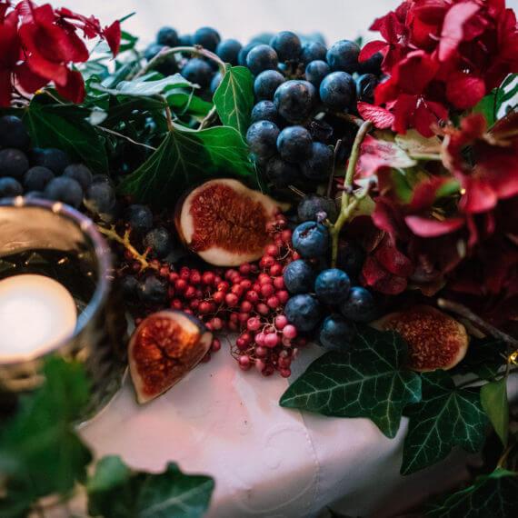 ślubne dekoracje jesień