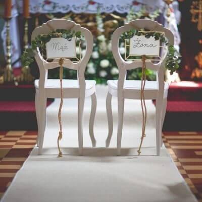 dekoracja kościoła naślub