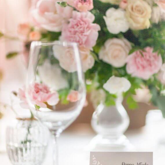pastelowe dekoracje ślubne