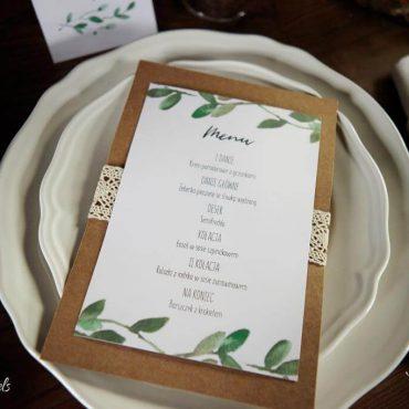 menu ślubne botaniczne