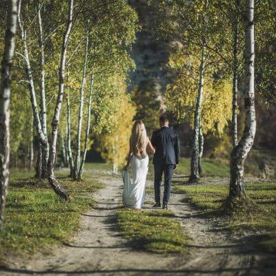 ślubny plener wlesie