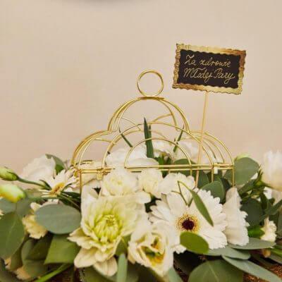 dekoracja ślubna wklatce