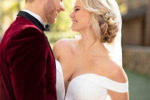 suknia ślubna zodkrytymi ramionami